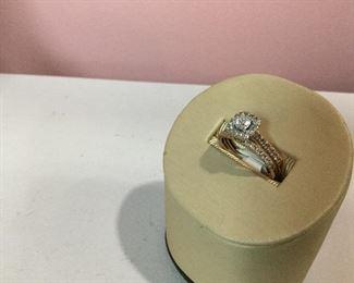 Rose Gold & Diamond Bridal Set