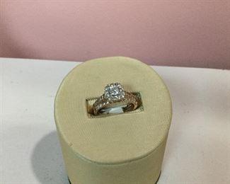 Rose Gold and Diamond Bridal Set