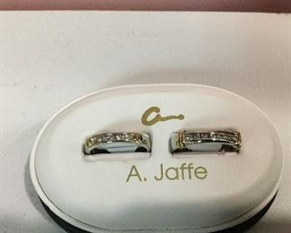 White & Yellow gold and diamond bands