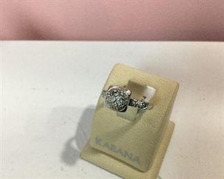 Platinum and diamond cluster ring