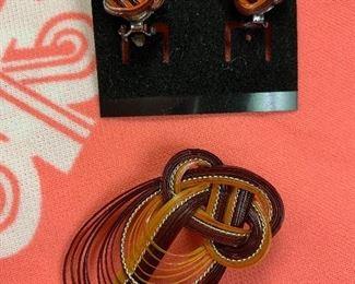 Earrings and Pin Set