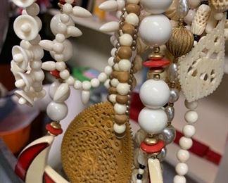 Bakelite, Bone, Lucite Necklaces