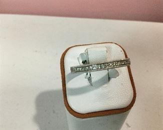 White gold and diamond band