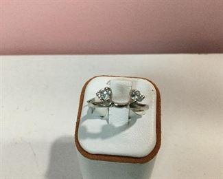 White gold and diamond wrap