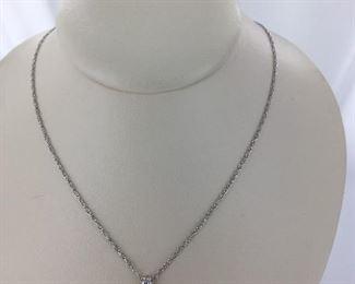 White gold tanzanite necklace