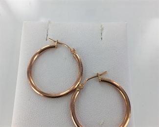 Rose gold hoop earrings