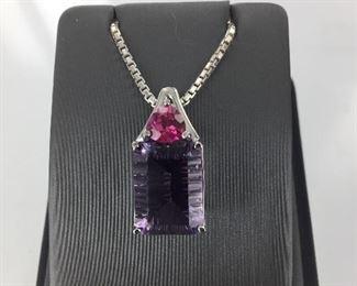 Frank Reubel Rose de France and pink tourmaline necklace