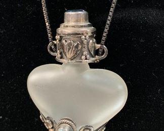 Tiny Jeweled Bottle Necklace