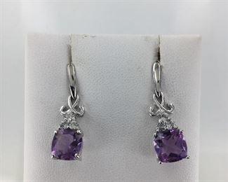 SS amethyst earrings