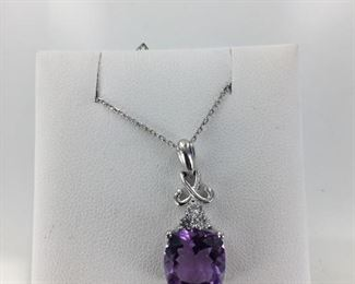 SS amethyst necklace