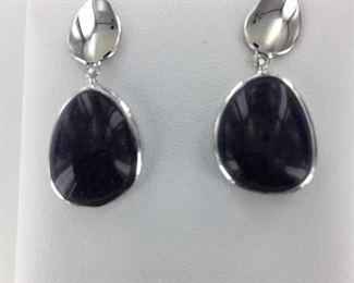 SS blue stone earrings