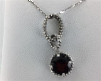 SS garnet necklace
