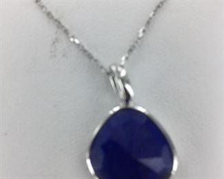 SS blue stone necklace