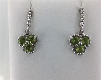 SS peridot earrings