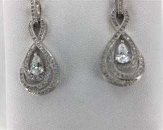 SS cz earrings