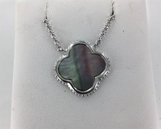 Sterling Silver and Abalone Necklace