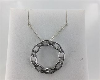 Sterling Silver and Diamond Circle of Life Necklace