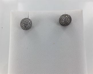 Sterling Silver and CZ Earrings