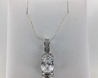 Sterling Silver and CZ Pendant
