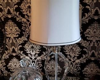Modern glass lamp, new
