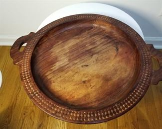 Decorative wooden bowl;  LARGE