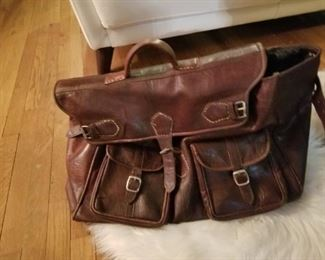 Large leather satchel,