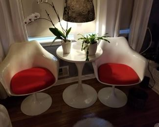 Beautiful pair of chairs with side table, previously shown separately.