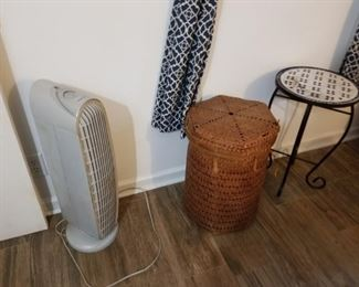 Air purifier, rattan hamper