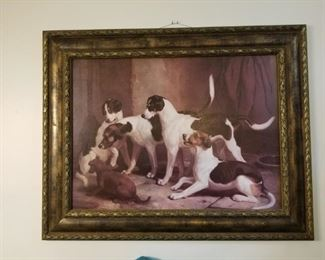Large  dog painting , estimate 3' x 2 1/2'