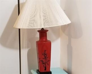 Lamp, oriental design, earth tones