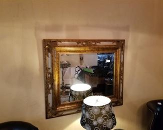 Large mirror, gold frame