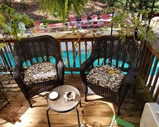 Patio furniture, off living room