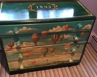 Folky painted chest