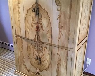 Part of painted bedroom set