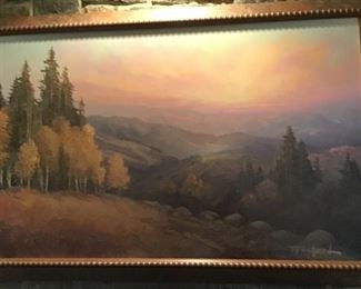 Carroll Forsyth (20/21stc USA). Western mountain landscape, oil on canvas, signed