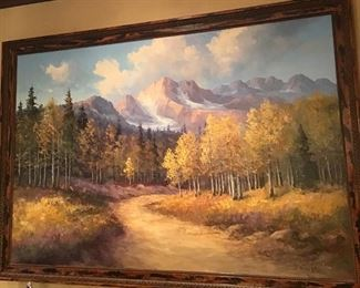 Carroll Forsyth - autumn western mountain landscape, oil on canvas, signed