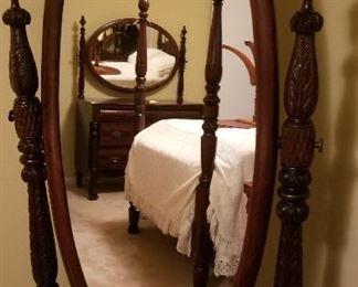 Antique Full Length Floor Mirror