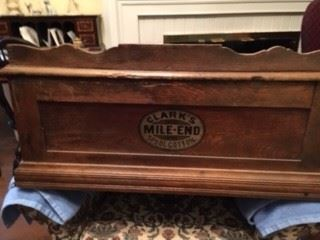 Vintage Clark's Mile-End Spool Cabinet