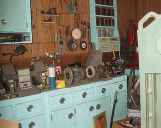 Love these original old kitchen cabinets.