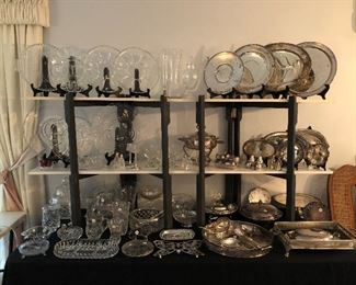 Crystal and Silver Plate