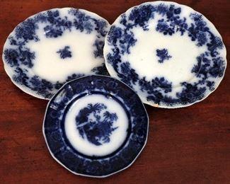 FLOW BLUE CHINA PLATES
