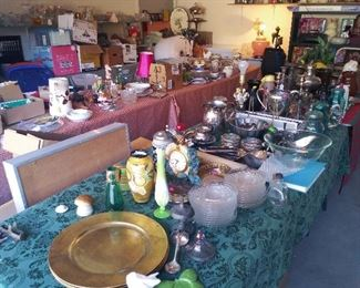 Tables packed full of beautiful items.