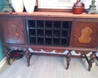 Antique Buffett Repurposed Wine Cabinet