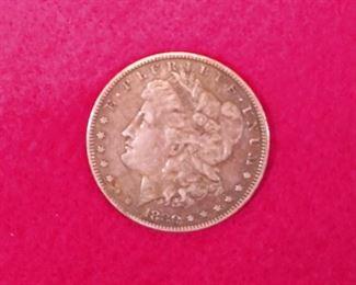 1880 MORHAN SILVER DOLLAR