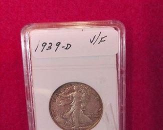 1939-D WALKING HALF DOLLAR