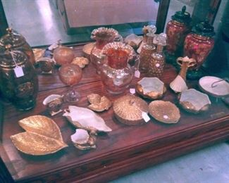 ASSORTED VINTAGE GLASS WARE