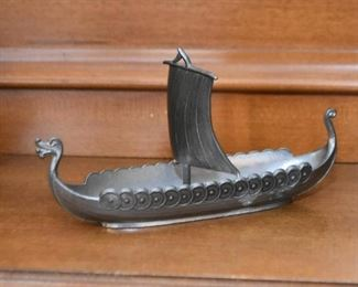 Metal Viking Boat Miniature