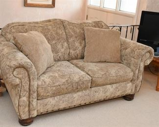 Matching 2-Seat Sofa / Loveseat with Nailhead Trim