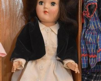Vintage Doll with Case, Clothing & Accessories