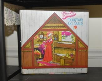 Vintage Barbie Dolls - Barbie Mountain Ski Cabin Play Set